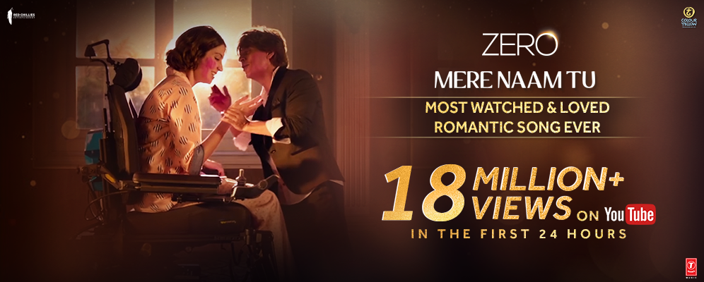 In merely 24 hours, Zero's first song Mere Naam Tu clocks 18 million views!